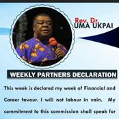 Declare this Week: My Week of Financial and Career Favour - Rev Uma Ukpai
