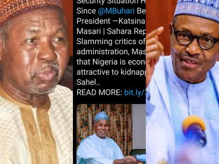 Gov Masari Gets Attacked By Nigerians After He Said That Security Level Has Improved Under PMB
