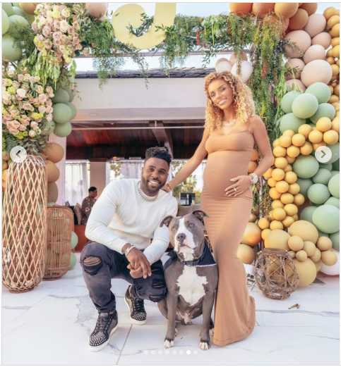 Singer, Jason Derulo and pregnant girlfriend?Jena Frumes?share photos from their baby shower