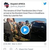 Watch: Khusela Diko's Husband's Funeral underway