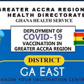 Vaccination centers for Ghanaians at the Greater Accra Region released, know your vaccination center