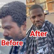 Homeless Man Goes Viral After A Good Samaritan Gave Him A Haircut