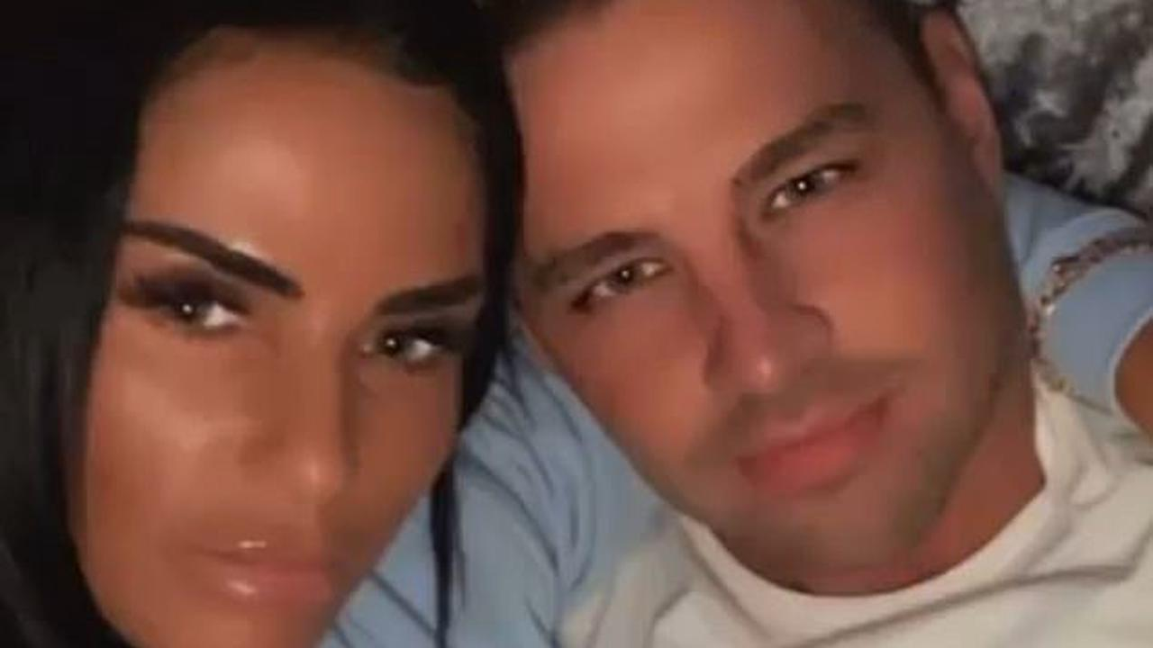 'I love him so much': Katie Price pays tribute to her fiancé Carl Woods as the couple celebrate their first anniversary in Turkey after star undergoes liposuction