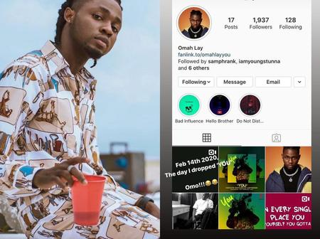 Omay Lay Shares Throwback Of His Followers Count In 2020, See How Many Followers He Has Now
