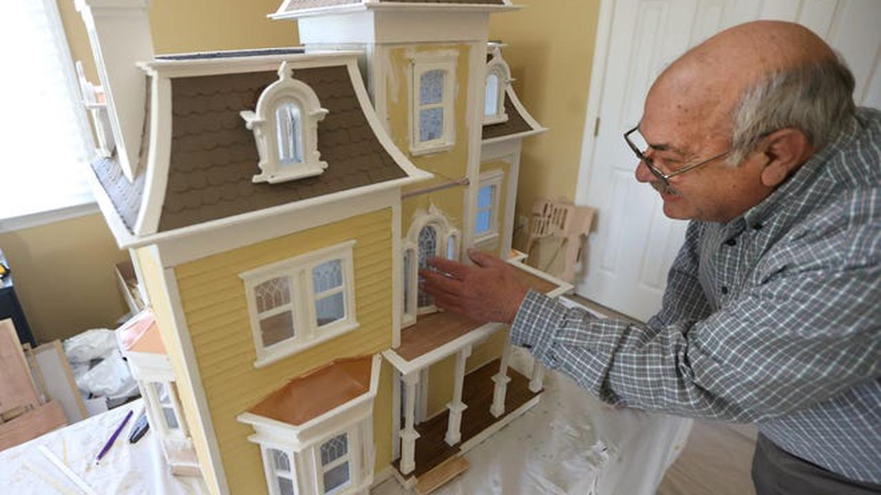 A dollhouse bigger than Barbie's; grandfather builds a house for generations