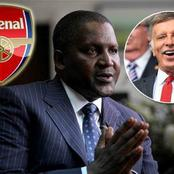 I'm buying Arsenal when I finish all of my projects - Africa's richest man, Aliko Dangote.