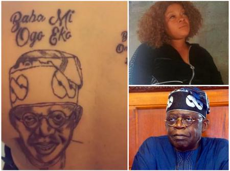Right Or Wrong?- Lady Get's Sent Out Of Her Home After Drawing A Tattoo Of Tinubu On Her Back.