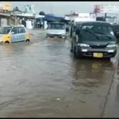Flood covers some areas in Accra due to heavy rainfall