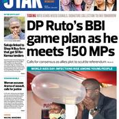 Wednesday's Star, Daily Nation, Taifa Leo and Business Daily Newspapers Headline