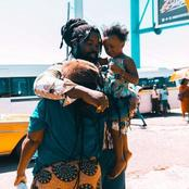 Big Zulu makes a little girl shed tears as he approaches them to pick her up and hug the mother
