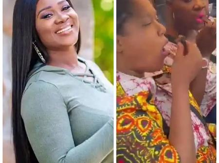 Zubby Michael & others react as Mercy Johnson Shares funny video of her and Toyin Abraham eating