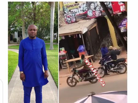 Residents surprised to see singer Davido's PL manager, Israel, without a car in Ekpoma, Edo State