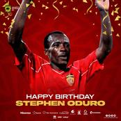 It's former midfield maestro Stephen Oduro