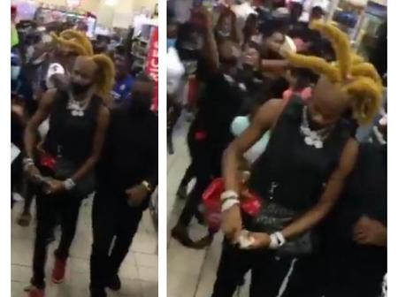 Moment NBA Geeboy Was Spotted In Nigeria Giving Out Money In A Shopping Mall