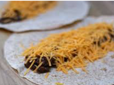 Steps And Ingredients Needed To Prepare Black Bean And Cheese Tacos