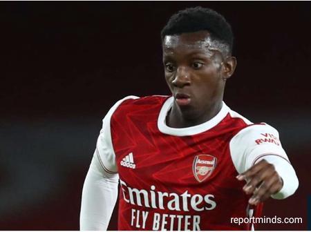 Ex Arsenal Legend Advises 18 Years Old Eddie Nketiah How To Rival Lacazette