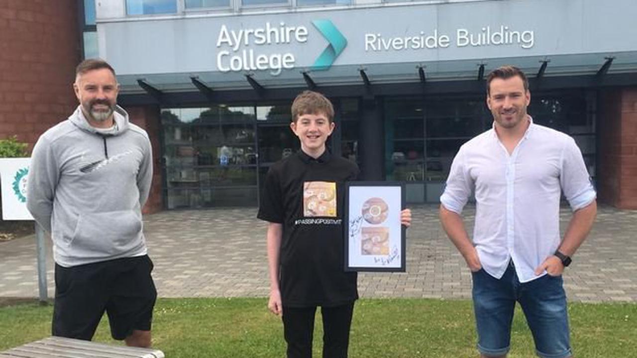 Britain's Got Talent winner Jai MacDowall and Kris Boyd meet talented Ayrshire lad who designed artwork for charity single