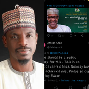 Reactions as Buhari's Aide Reminds Nigerians That Buhari Will Be Taking COVID-19 Vaccine Today