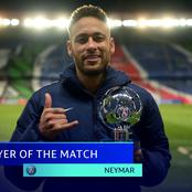 Mixed Reactions As Neymar Bags Player Of The Match Award For His Performance Against Bayern