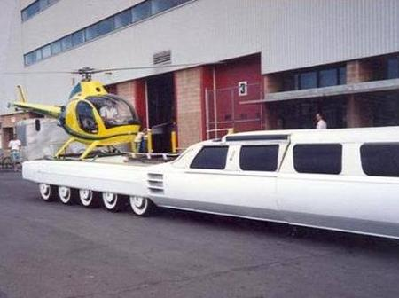 In Pictures: World's longest car with a pool & a helicopter landing pad