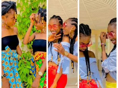 Nigerian Female Twins Share Beautiful Photos Online, Check Out Photos Of Them Having Fun Together
