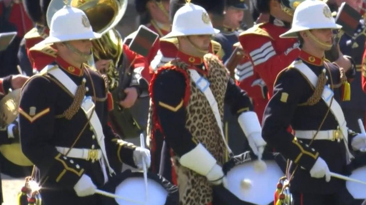 Drummer Spotted Wearing Leopard Skin During Prince Philip's Funeral