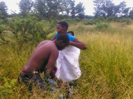Woman allegedly Having Sexual Intercourse In Sacred Forest (Images)