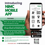 Check Out The 3 Unique Features of The Newly Introduced NIMC Mobile App