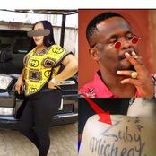 Lady tattoos Zubby Michael on her back, confesses her love for the actor; see photos and reactions