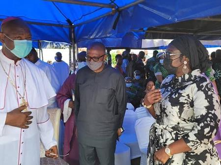 Photos As Ekwunife, Peter Obi, Others Visit Chief Obiukwu, Commiserate With Him Over Mother's Death