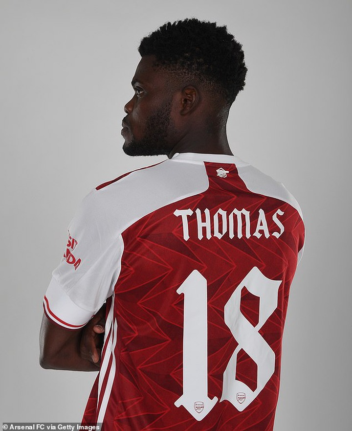?Arsenal unveil new signing Thomas Partey after his ?45m move from Atletico Madrid (photos)