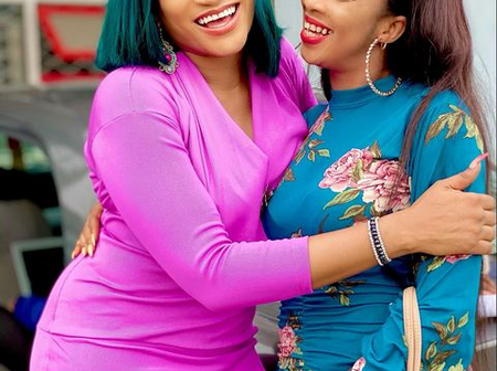 Oge Okoye Shares Lovely Photos With Beautiful Actress On Movie Set Today