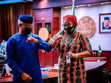 Senator Ekwunife Meets Vice President Osinbajo, Seeks Federal Government's Support.