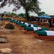 See The Sad Moment 12 Nigerian Soldiers Who Went To Settle Disputes Were Buried