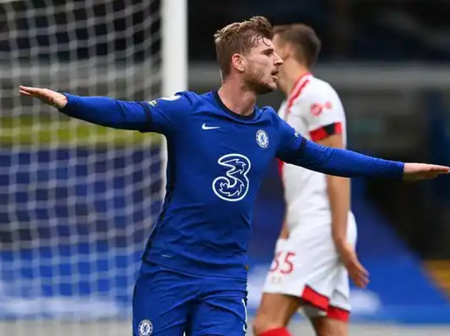 Chelsea striker Timo Werner scored his first two goals in premier league against Southampton.