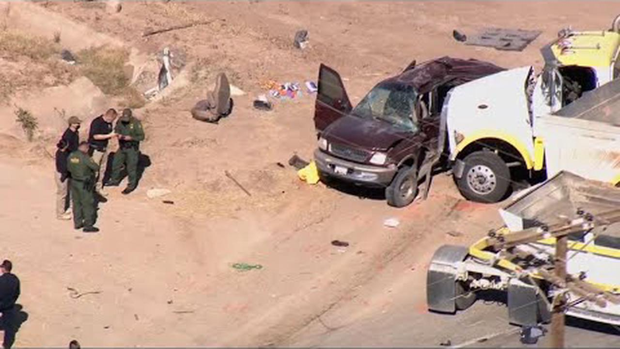 SUV Filled with 25 Passengers in 'Mass Fatality' Crash Initially Drove Through Hole in Border Fence as Part of 'Migrant Smuggling Operation': CBP