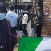 Pro-Buhari protesters and Anti-Buhari protesters clash in London
