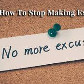 Get rid of your personal excuses : opinion