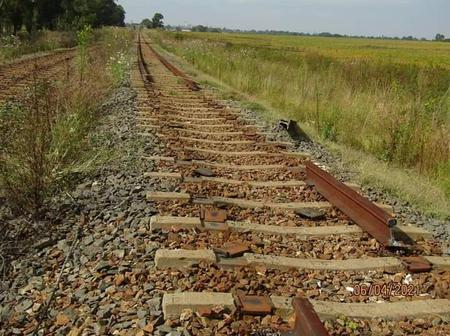 Train tracks stolen from Brakpan to Springs.