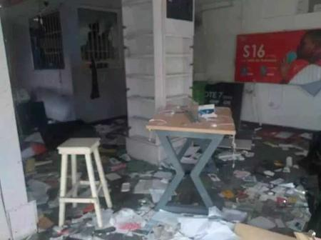 Man In Tears As His Shop Was Looted By Hoodlums After Borrowing Loans From Banks (Photos)
