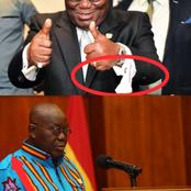 Nana Addo Wears African Prints Or Suits Often With These 2 Signs On Him - Have You Also Seen Them?