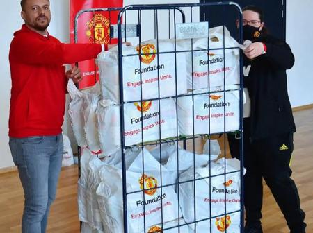 Manchester United donates over 380,000 food items for Easter