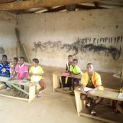 NR: Pupils learn under dilapidated classroom infrastructure at Kpalaga D/A primary school