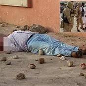 A Thug Stoned To Death By The Villagers