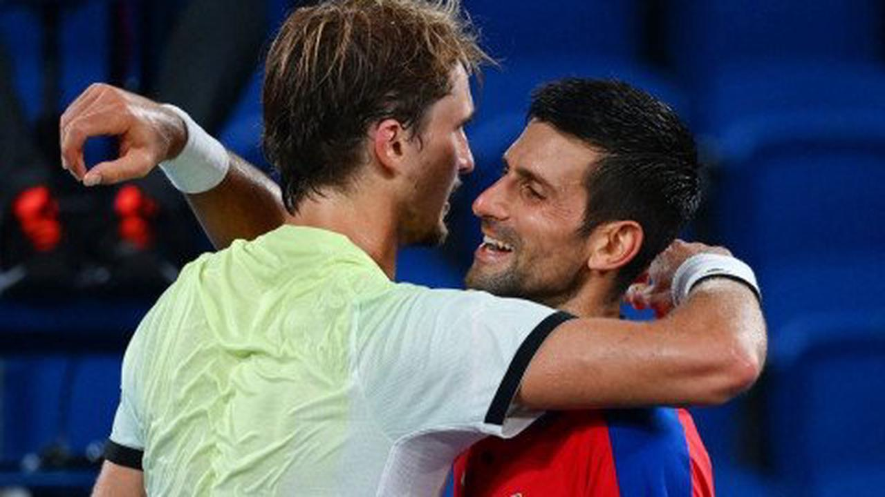 What Alexander Zverev told Novak Djokovic at the net after ending Golden Slam bid at Tokyo 2020