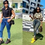 Check out beautiful pictures of Norma Mngoma rocking simple and stylish jeans.