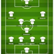 How Real Madrid could Lineup against Real Sociedad and break their defense.