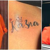 Nigerian Celebrities React As BbNaija Star Ka3na Slams Lady Who Tattooed Her Name On Her Thigh
