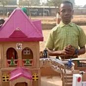 Photos of Nigerian Children showing off their Creativity with Cartons of paper