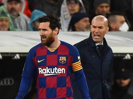Zidane sends a strong message to Messi ahead of El Clasico